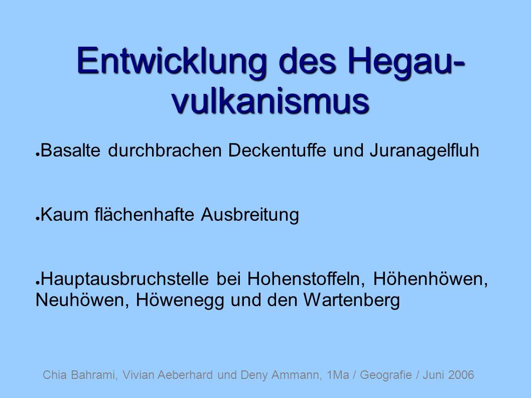 Entwicklung des Hegau-vulkanismus