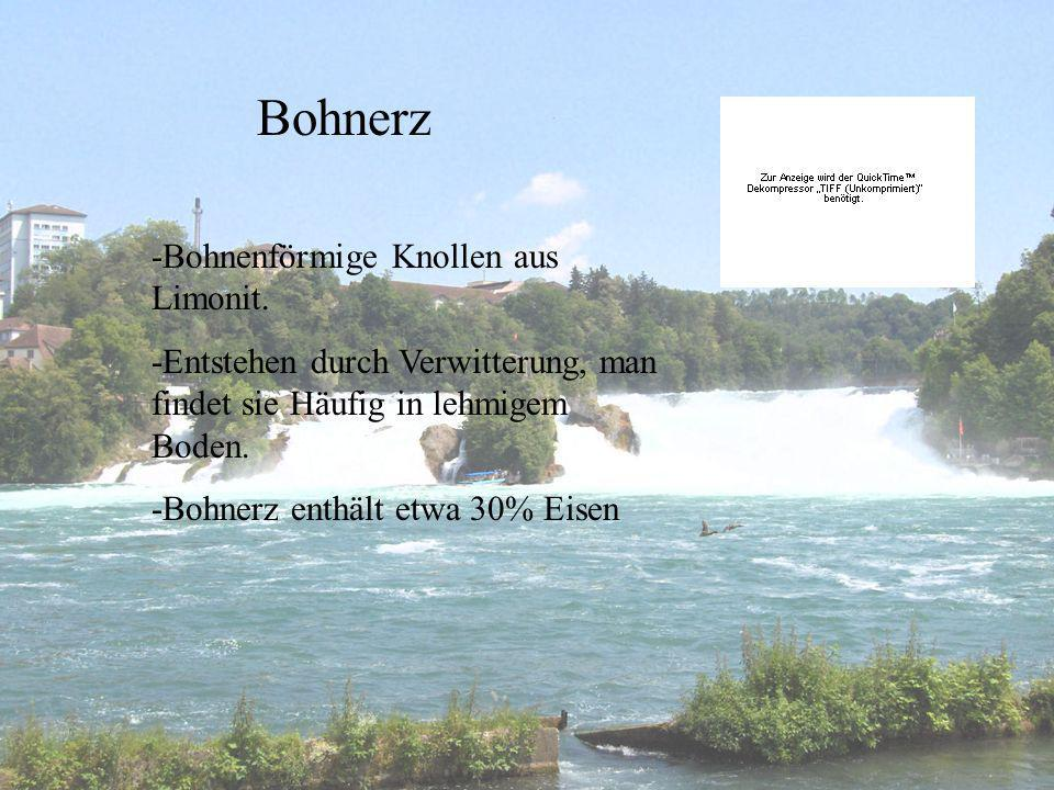 Bohnerz -Bohnenförmige Knollen aus Limonit.
