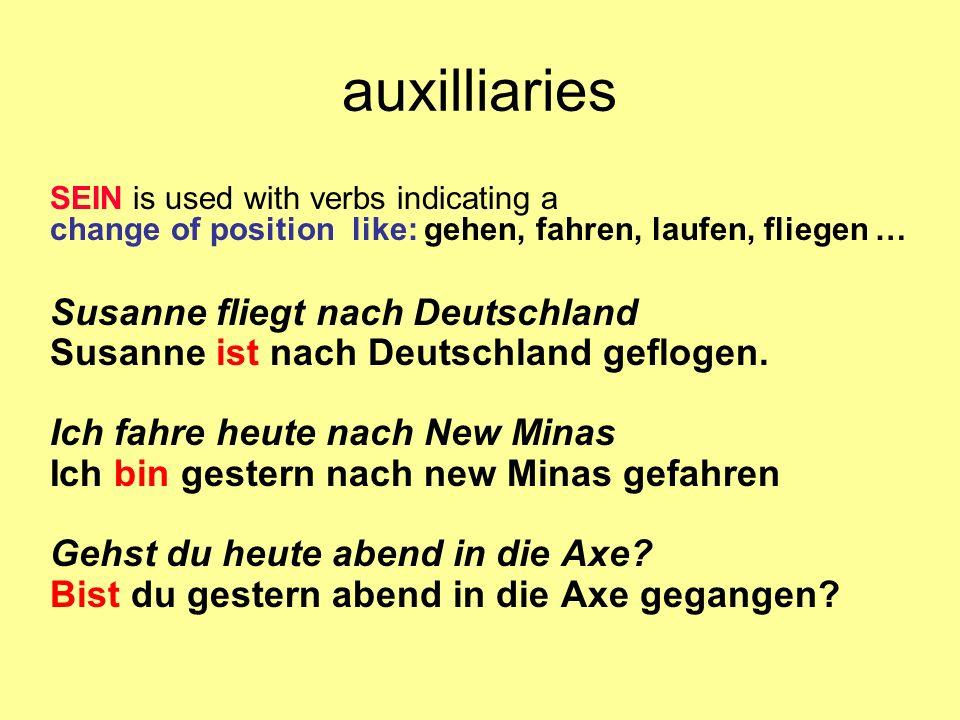 auxilliaries Susanne fliegt nach Deutschland