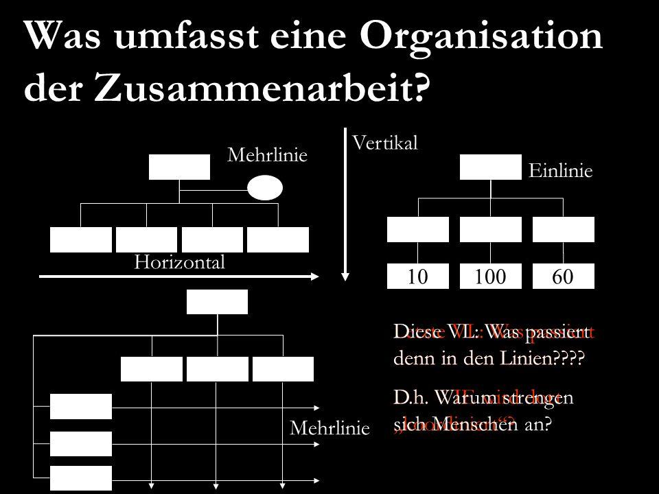 Was umfasst eine Organisation der Zusammenarbeit