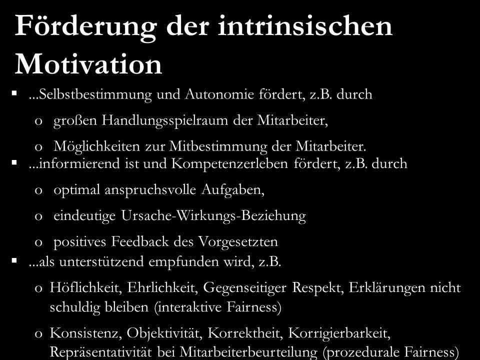 Förderung der intrinsischen Motivation