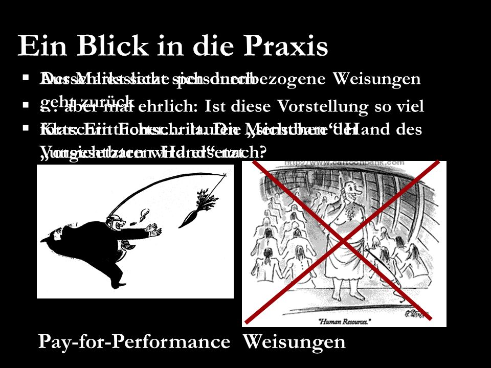 Ein Blick in die Praxis Weisungen Pay-for-Performance