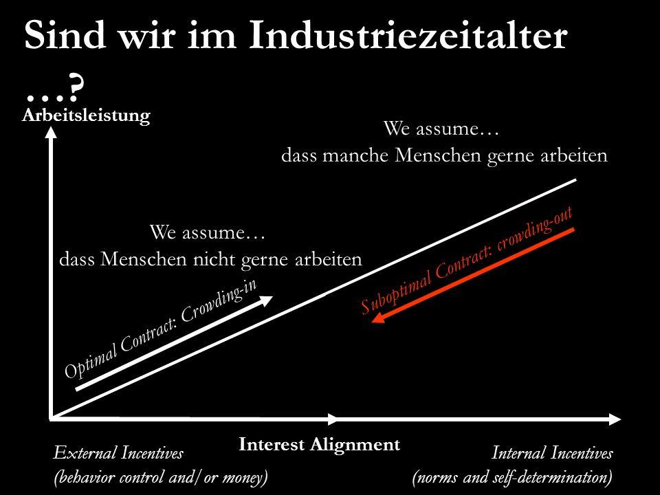 Sind wir im Industriezeitalter …