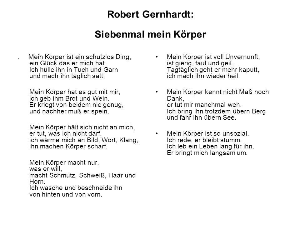 Robert Gernhardt: Siebenmal mein Körper