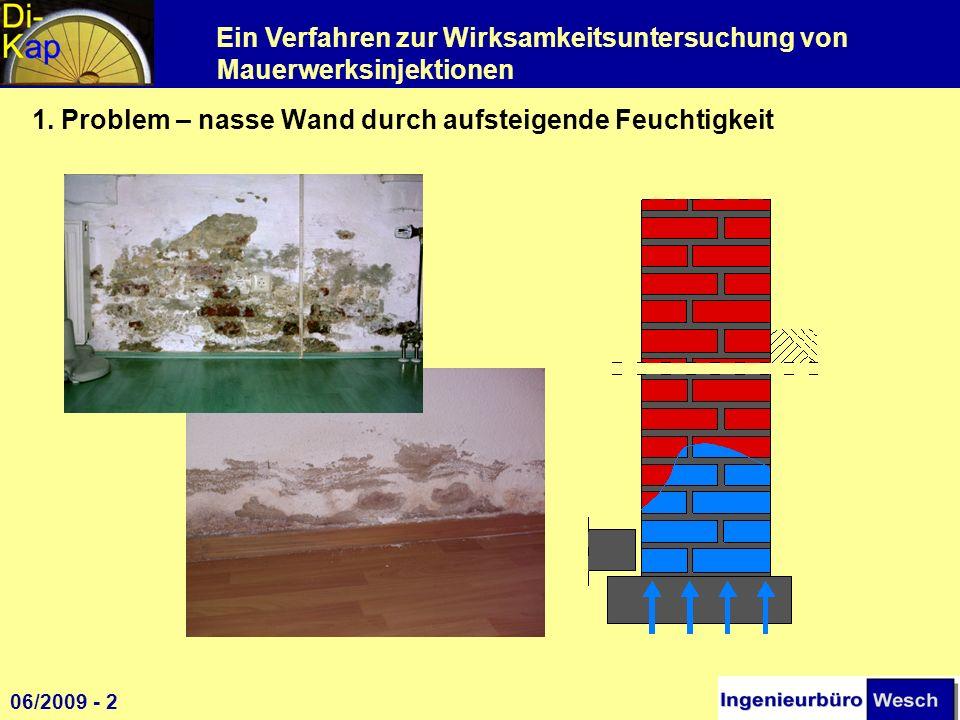 1. Problem – nasse Wand durch aufsteigende Feuchtigkeit