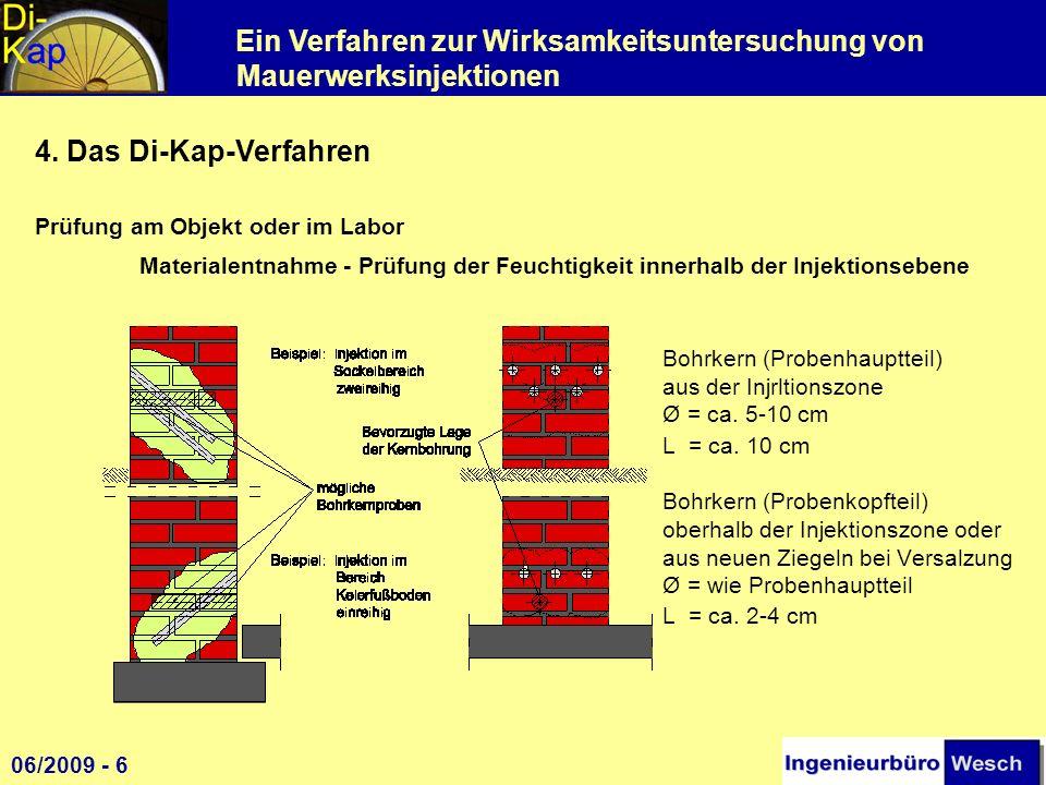 4. Das Di-Kap-Verfahren Prüfung am Objekt oder im Labor