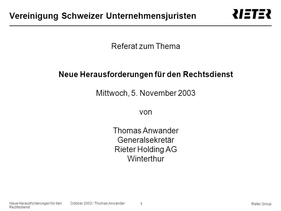Vereinigung Schweizer Unternehmensjuristen