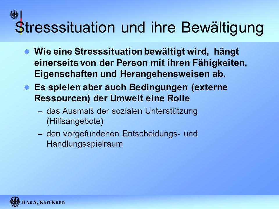 Stresssituation und ihre Bewältigung