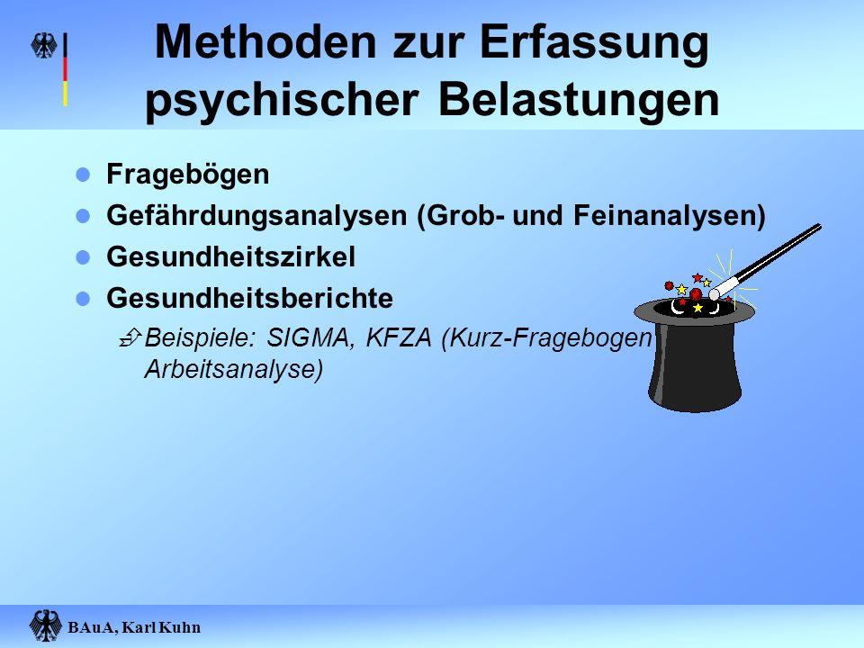 Methoden zur Erfassung psychischer Belastungen