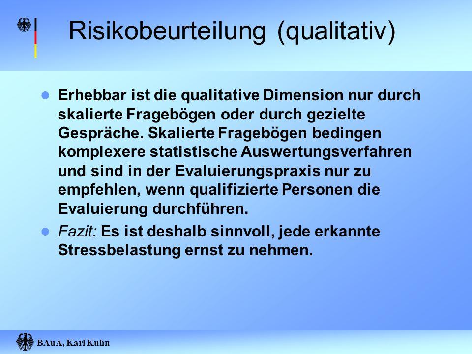 Risikobeurteilung (qualitativ)