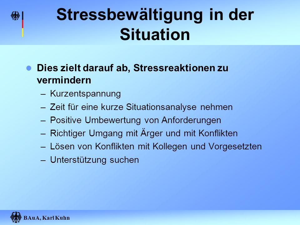 Stressbewältigung in der Situation