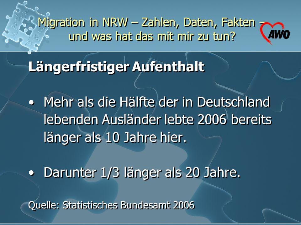 Längerfristiger Aufenthalt • Mehr als die Hälfte der in Deutschland