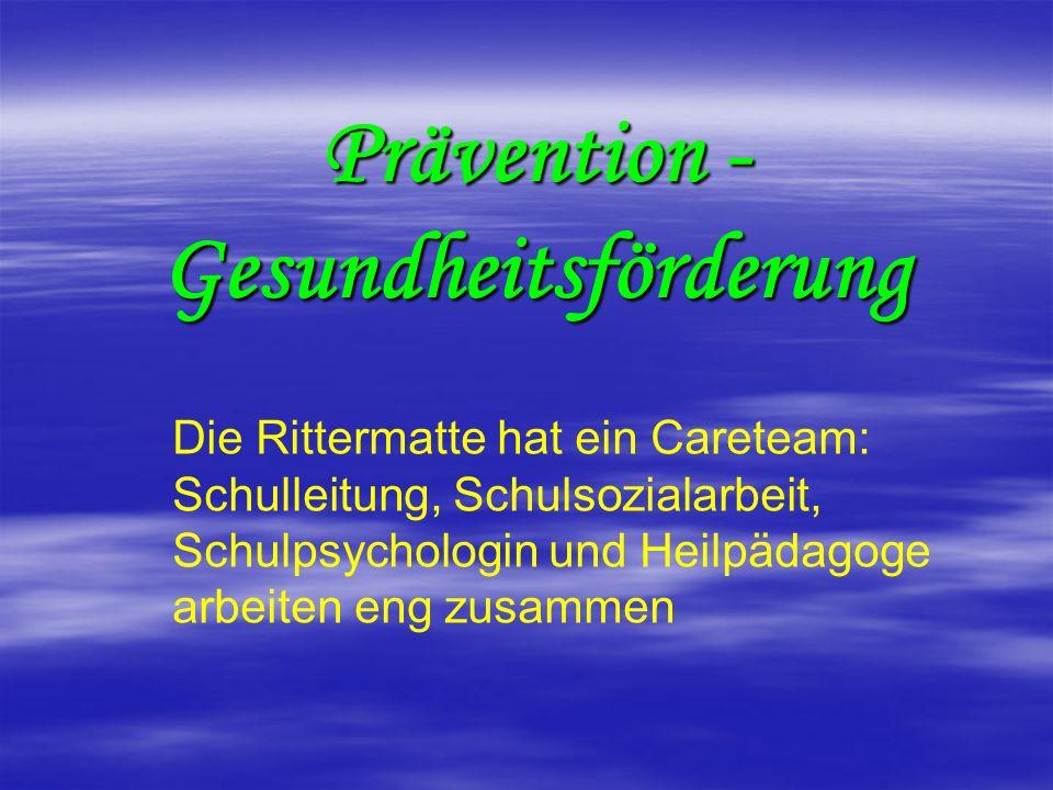 Prävention - Gesundheitsförderung