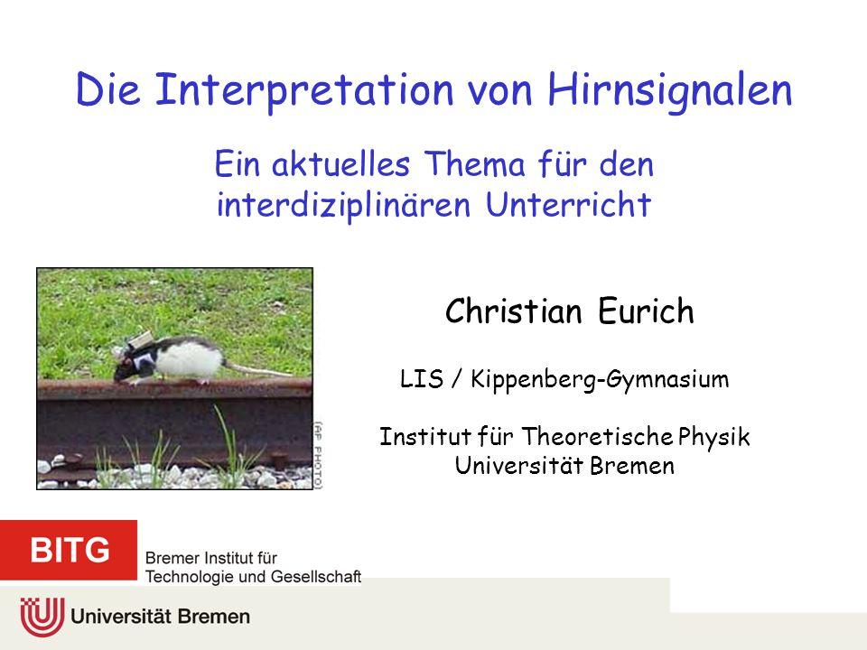 Die Interpretation von Hirnsignalen Ein aktuelles Thema für den interdiziplinären Unterricht