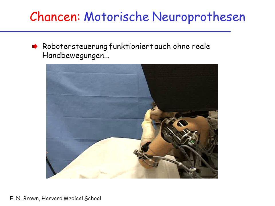 Chancen: Motorische Neuroprothesen