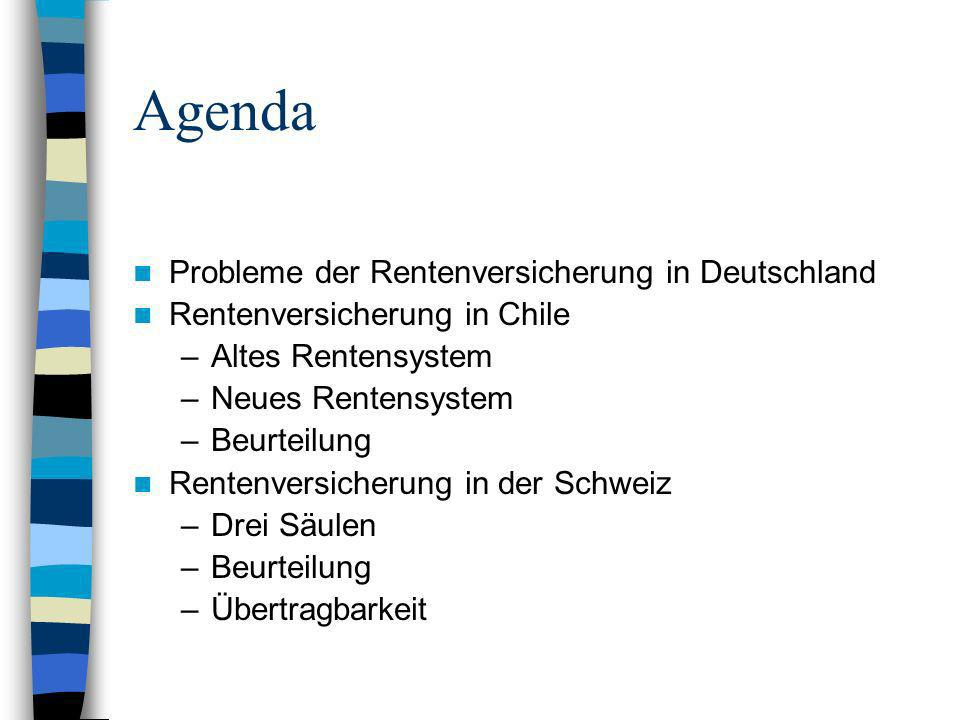 Agenda Probleme der Rentenversicherung in Deutschland