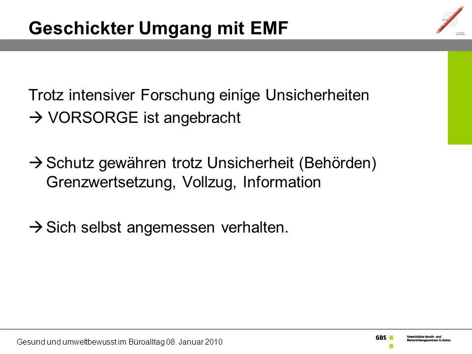 Geschickter Umgang mit EMF