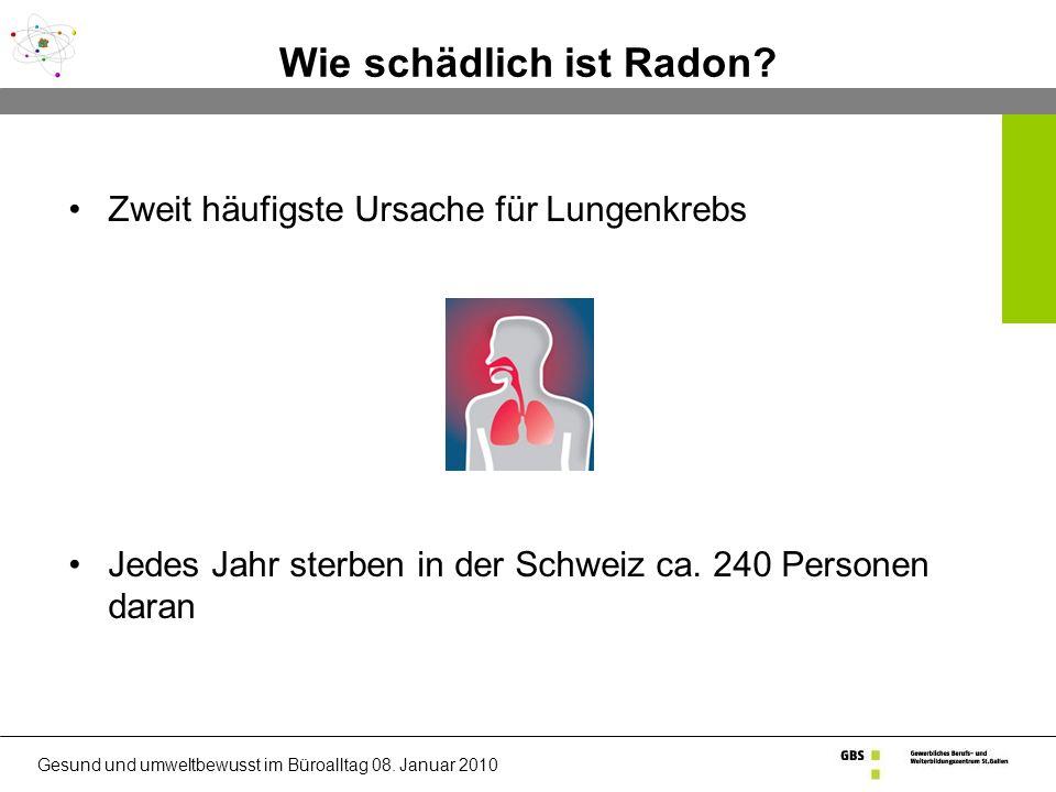 Wie schädlich ist Radon