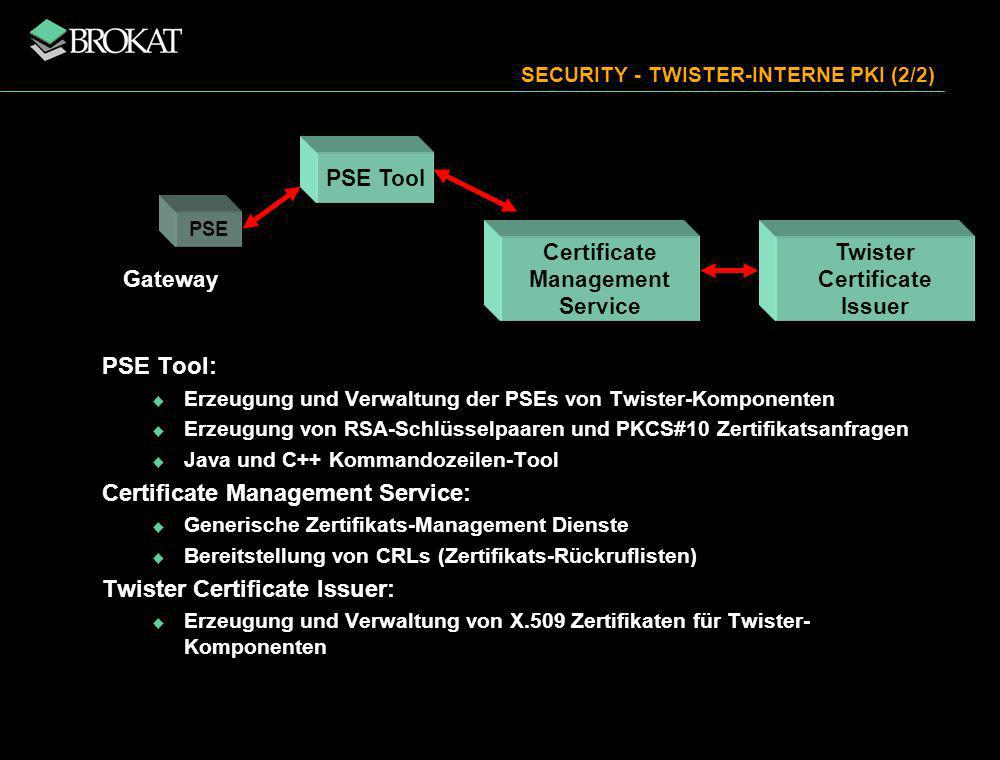 SECURITY - TWISTER-INTERNE PKI (2/2)