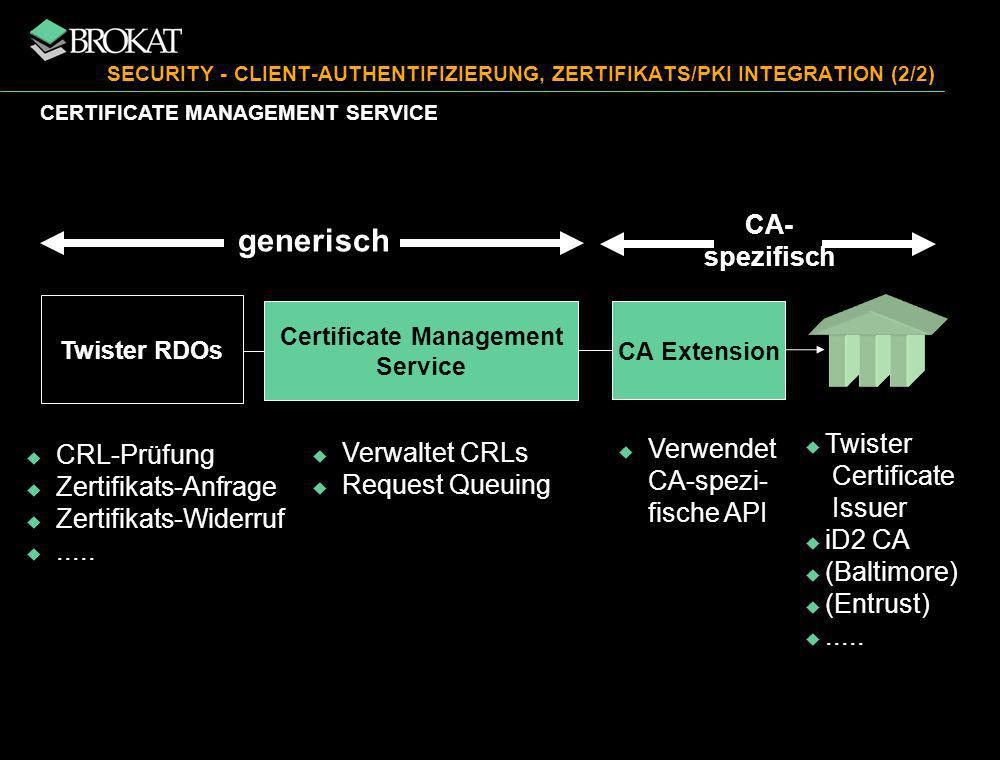 SECURITY - CLIENT-AUTHENTIFIZIERUNG, ZERTIFIKATS/PKI INTEGRATION (2/2)