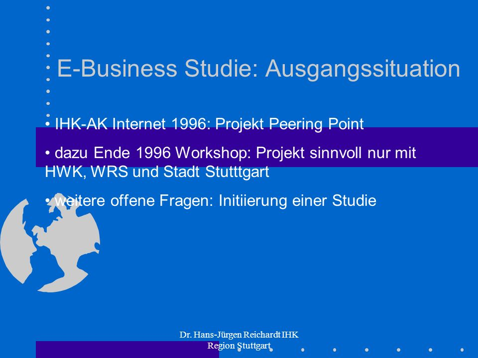 E-Business Studie: Ausgangssituation