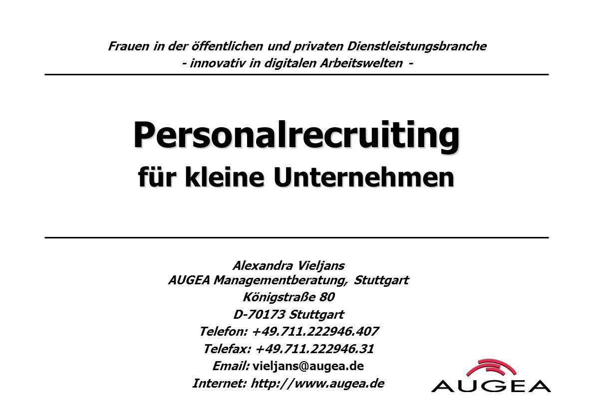 Personalrecruiting für kleine Unternehmen