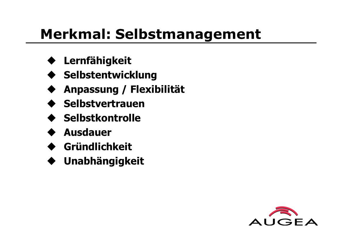Merkmal: Selbstmanagement