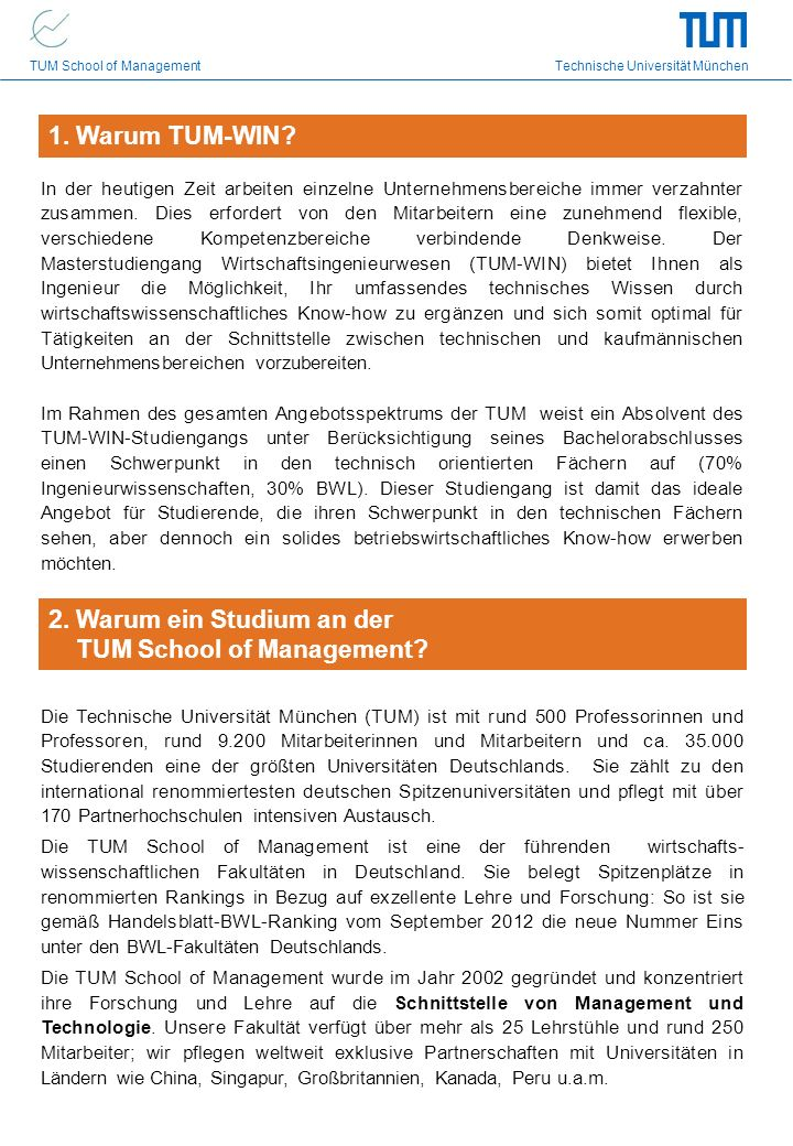 2. Warum ein Studium an der TUM School of Management