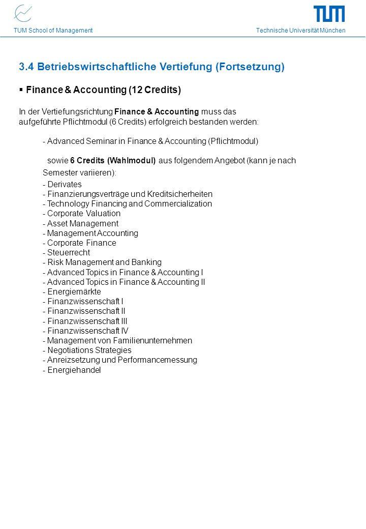 3.4 Betriebswirtschaftliche Vertiefung (Fortsetzung)
