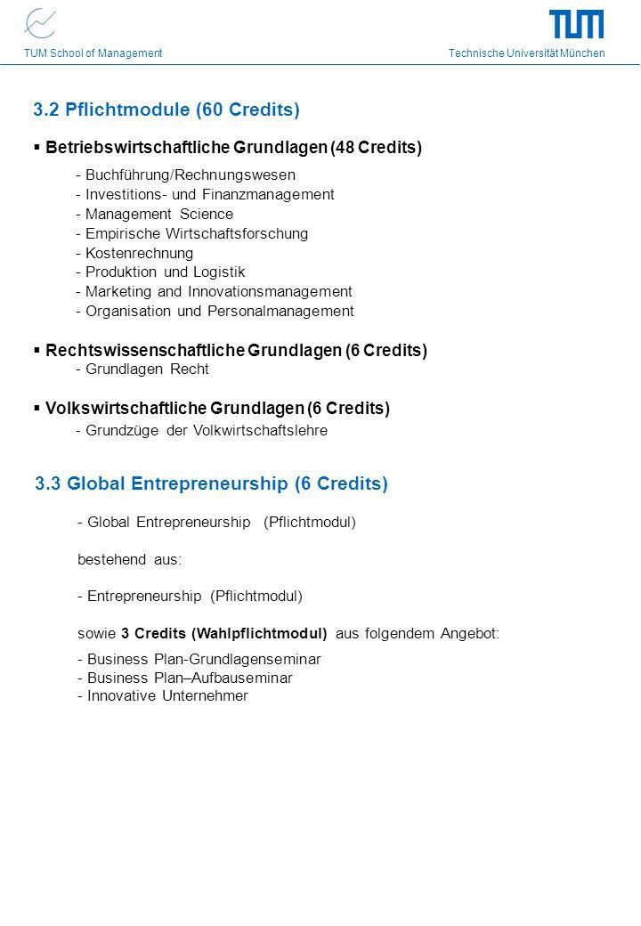 3.2 Pflichtmodule (60 Credits)