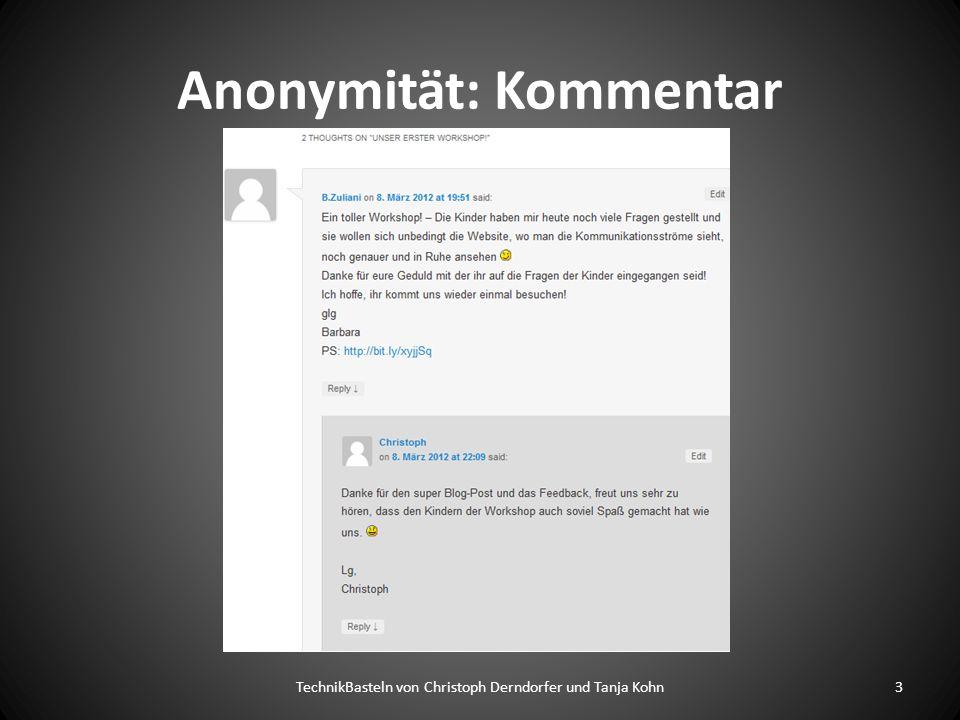 Anonymität: Kommentar