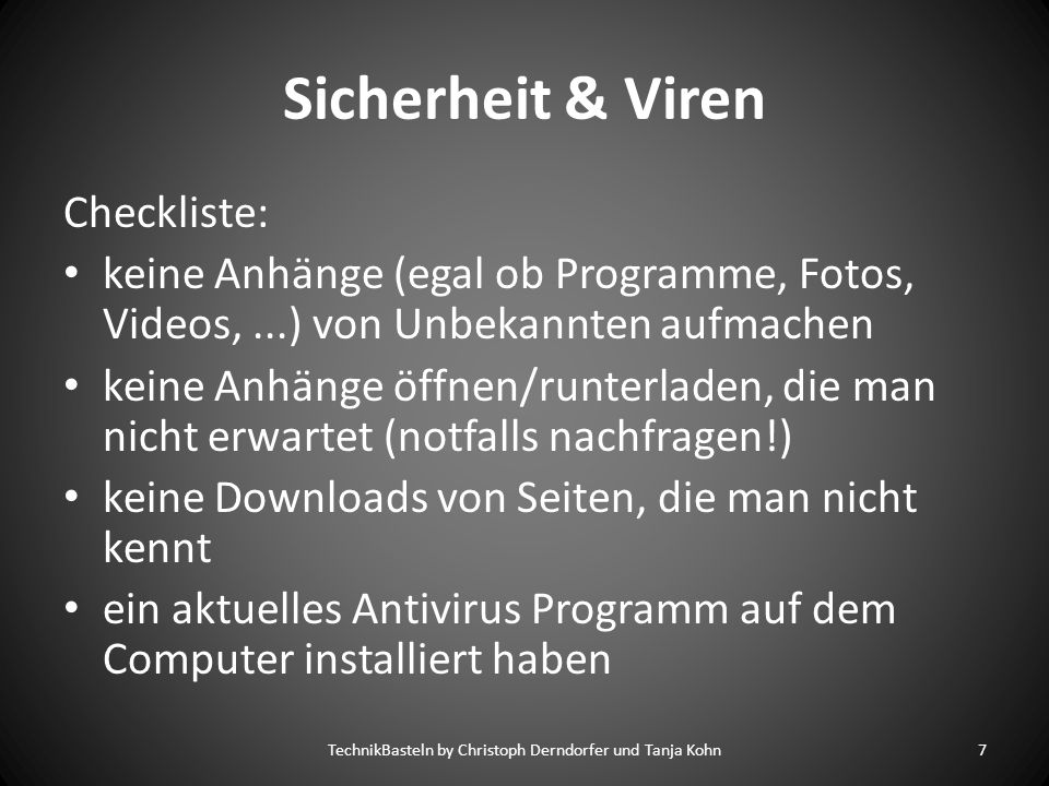 TechnikBasteln by Christoph Derndorfer und Tanja Kohn