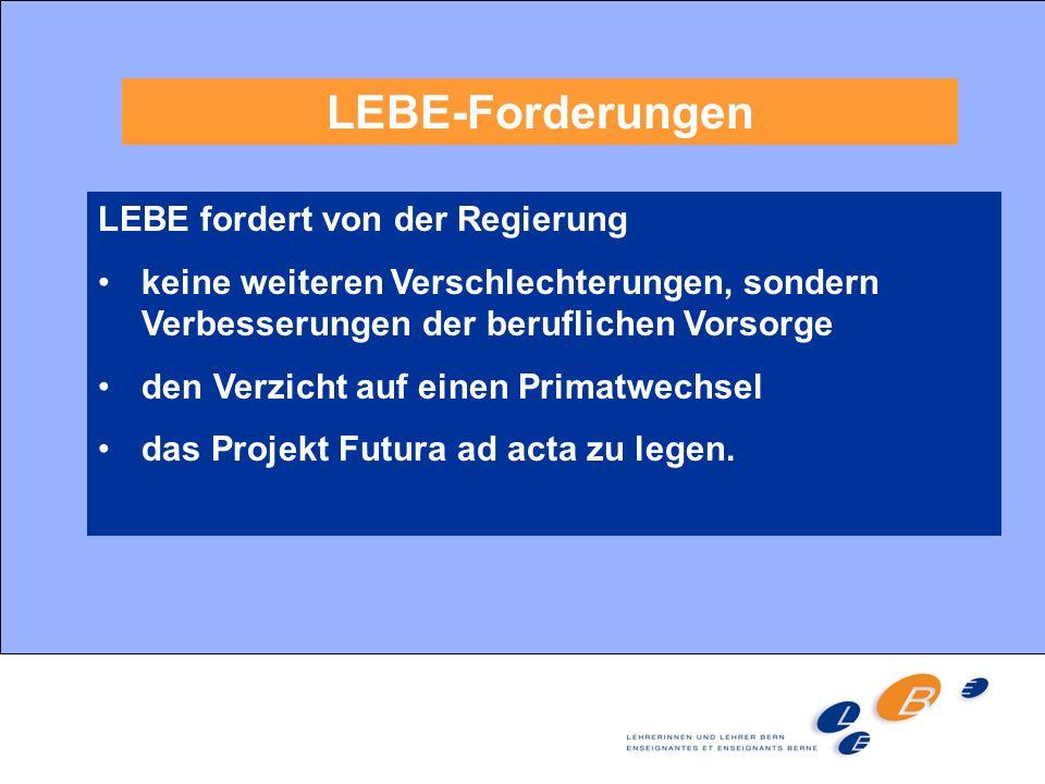 LEBE-Forderungen LEBE fordert von der Regierung