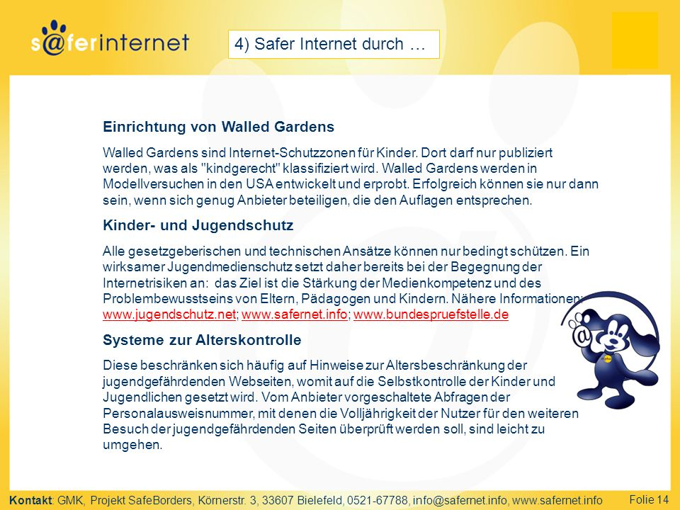 4) Safer Internet durch …