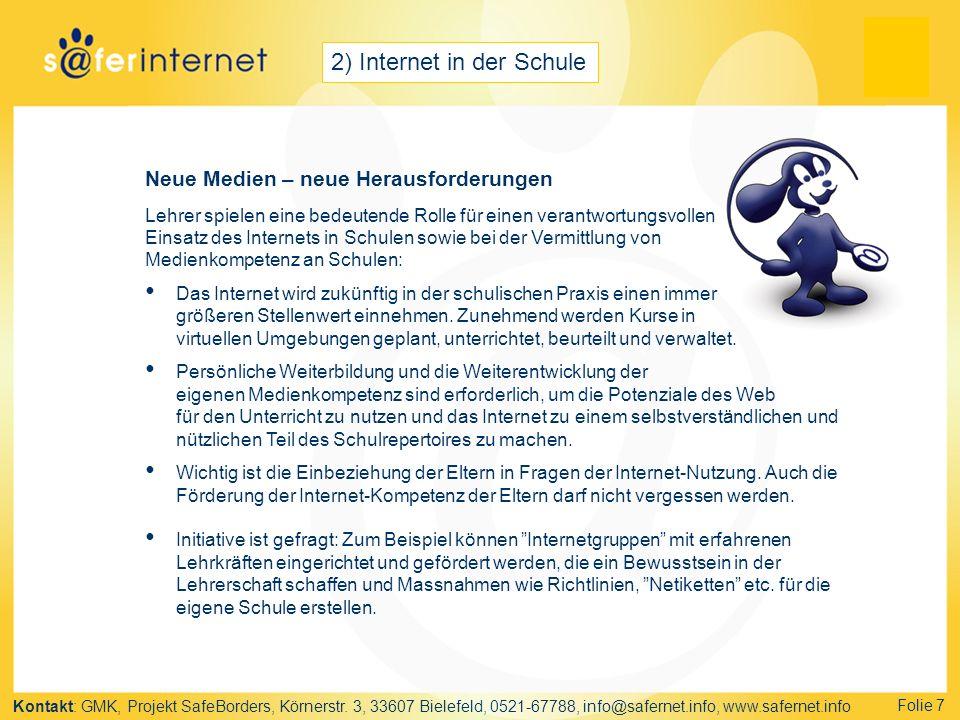 2) Internet in der Schule
