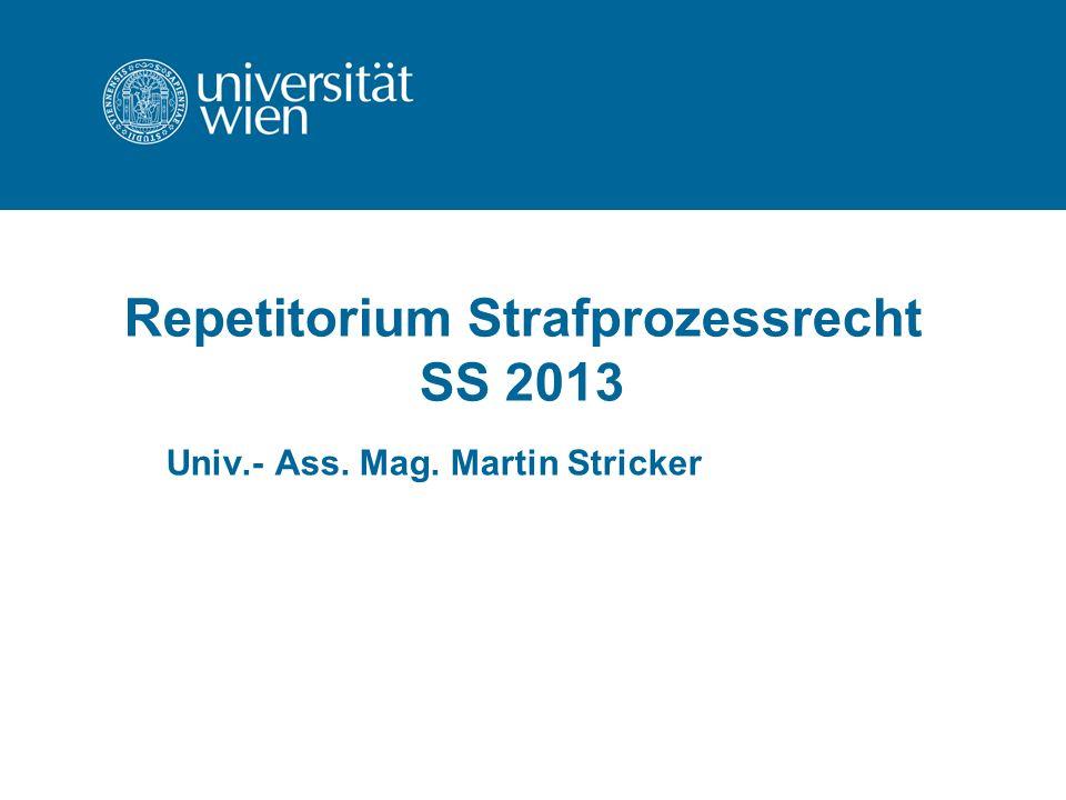 Repetitorium Strafprozessrecht SS 2013