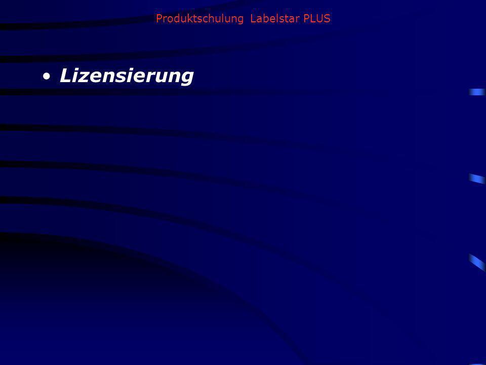 Produktschulung Labelstar PLUS