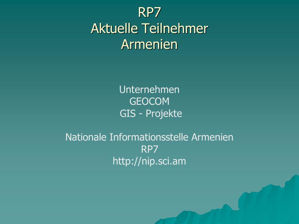 RP7 Aktuelle Teilnehmer Armenien