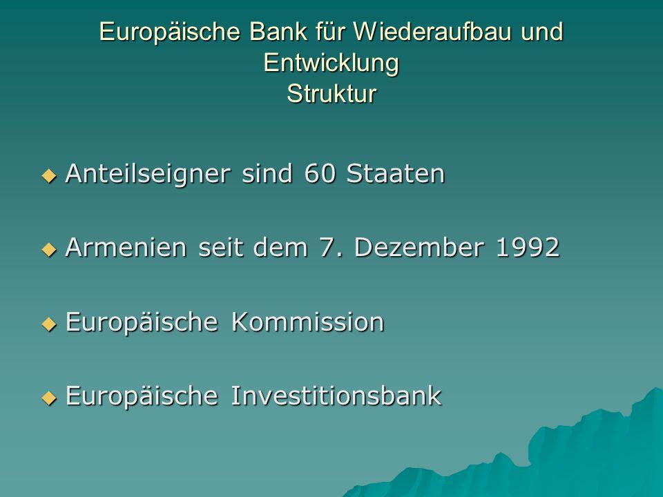 Europäische Bank für Wiederaufbau und Entwicklung Struktur