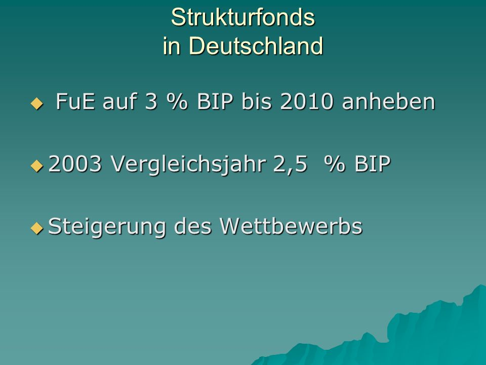 Strukturfonds in Deutschland