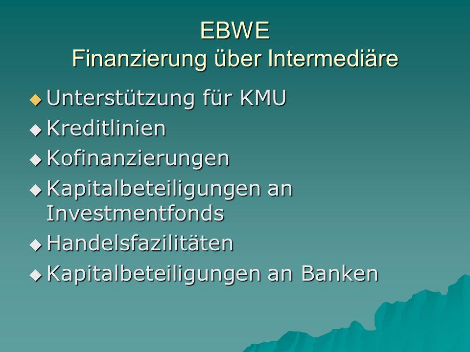 EBWE Finanzierung über Intermediäre
