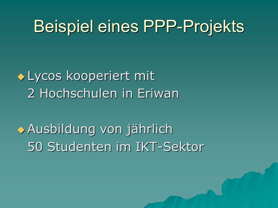 Beispiel eines PPP-Projekts