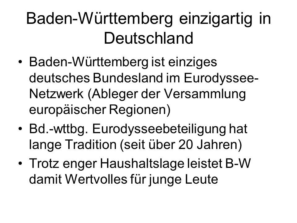 Baden-Württemberg einzigartig in Deutschland