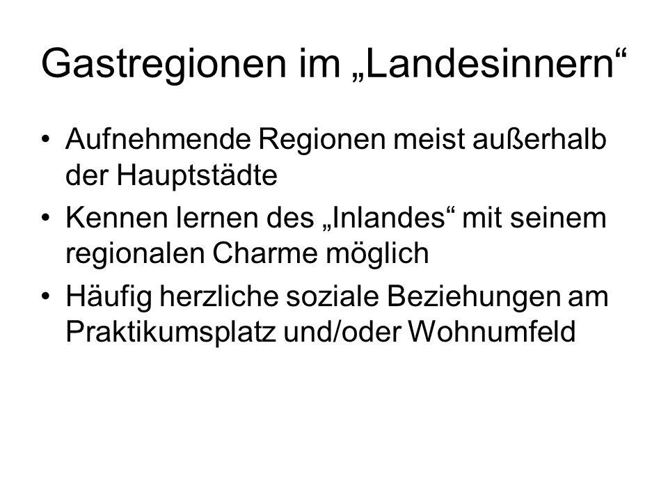 """Gastregionen im """"Landesinnern"""