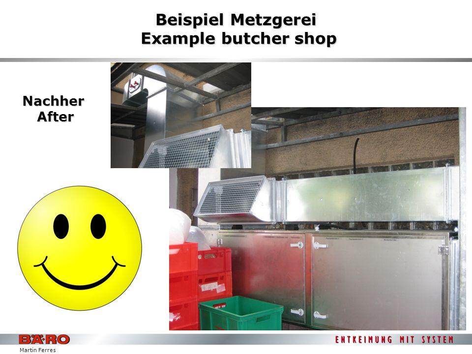 Beispiel Metzgerei Example butcher shop