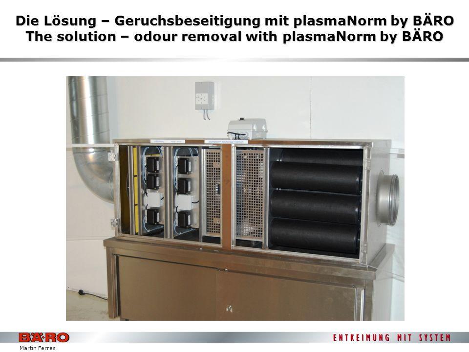 Die Lösung – Geruchsbeseitigung mit plasmaNorm by BÄRO The solution – odour removal with plasmaNorm by BÄRO