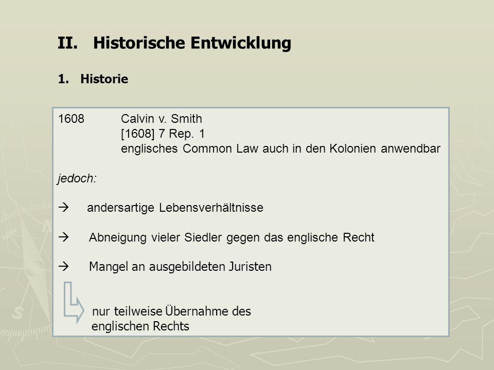 II. Historische Entwicklung