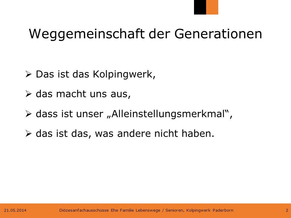 Weggemeinschaft der Generationen