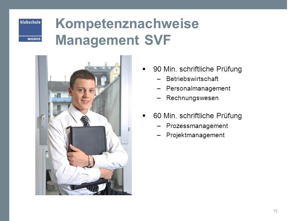 Kompetenznachweise Management SVF