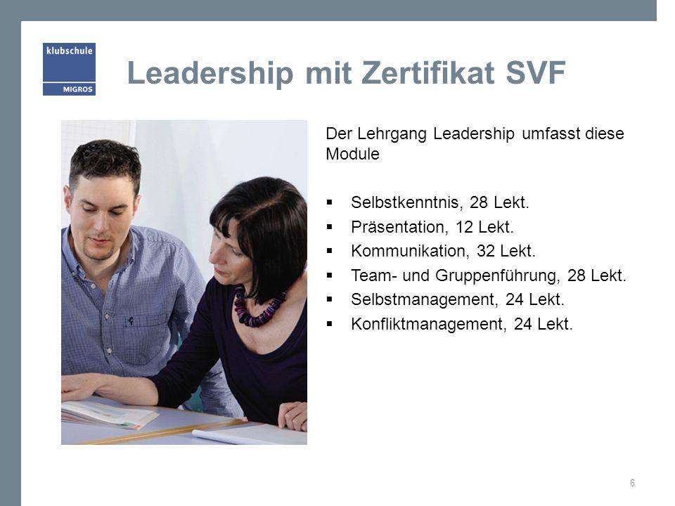 Leadership mit Zertifikat SVF